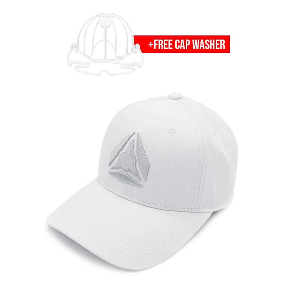 White Storm cap and capwasher